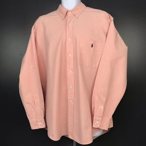 Ralph Lauren Salmon 'Big Shirt' Oxford Button Down